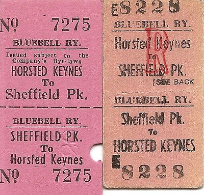 Bluebell Railway Edmondson Tickets - Horsted Keynes to Sheffield Park x 2