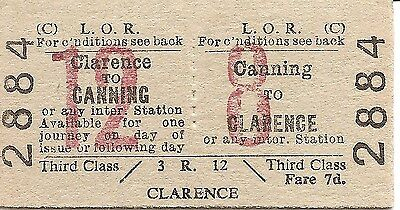 Liverpool Overhead Railway Edmondson Ticket - Canning to Clarence
