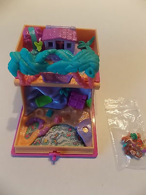 Polly Pocket vintage bluebird Glitter Island 1995 + 3 personnages