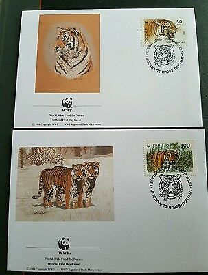 Tiger mix sets on fdi, singles and post cards.1993 Russia