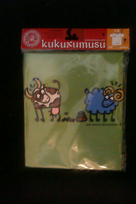 1 Kids Childrens T Shirts - Brand New KUKUXUSU cow and sheep(green)