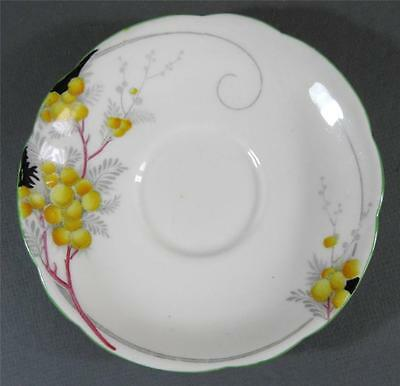 Shabby vintage Royal Paragon  white orange floral china/gilt England saucer chic