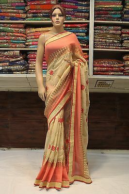 Bollywood Indian Ethnic Traditional Designer Women Saree Sari Bridal Party Dress
