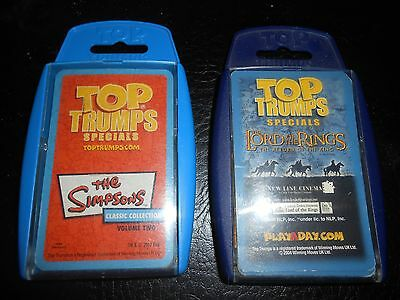 top trumps lord of the rings and simpsons