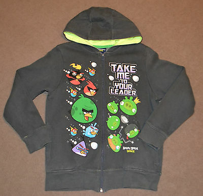 Next Boys Grey Angry Birds Space Zip Up Hoodie for size 11 years