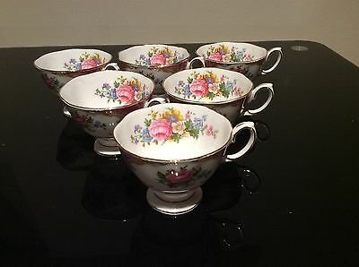 royal albert lady Carlye 6- Coffee Cups Only, 1st Quality. Excellent