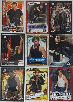 WWE DEAN AMBROSE  trading Card LOT US + UK no doubles  Slam Attax