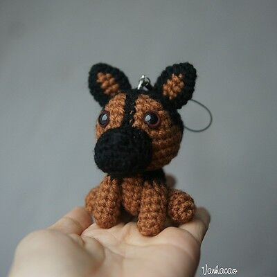 Miniature German Shepherd Limited Edition - Handcrafted Crocheted Dog Love Gift