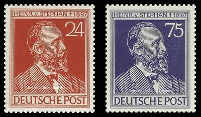 EBS Germany 1947 Allied Occupation Heinrich von Stephan Michel 963-964 MNH**