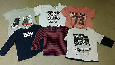 Boys size 1 t shirts and long sleeve t shirts x 6