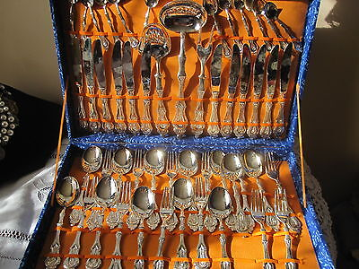 Matching Silver Plate ITALIAN CUTLERY SET ..