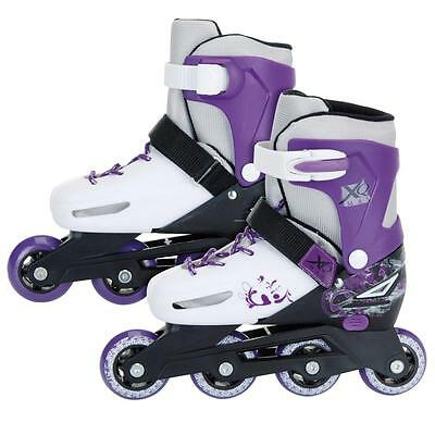 XQ Purple Roller Skates Size 11-13.5 Adjustable Out Doors Skate Boots