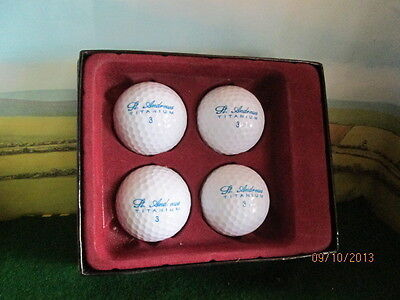 A Small Gift  For The Golfer In Your Life Set Of 4 Golf Balls  Mib