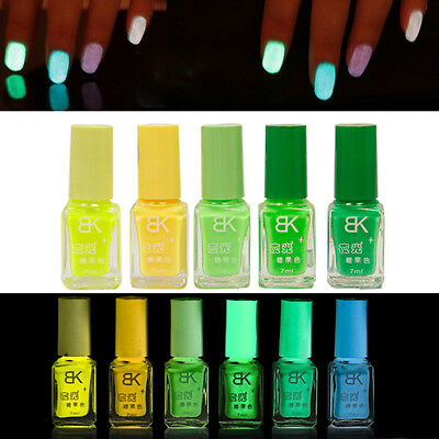 20 colors Glow in the Dark Neon Fluorescent Nail Polish Varnish Luminous girl