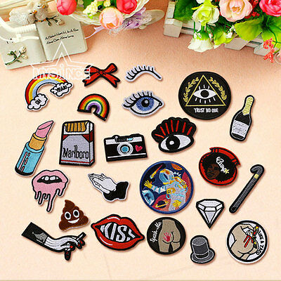Cute Embroidery Sew On Iron On Patch Badge Bag Hat Jeans Dress Applique Craft