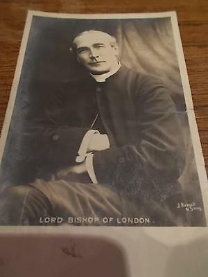Vintage 1905 Postcard LORD BISHOP OF LONDON J Russell & Sons B/W Real Photo