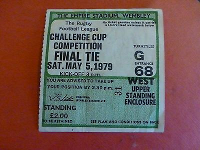 WAKEFIELD TRINITY v WIDNES 1979 CHALLENGE FINAL, TICKET for sale