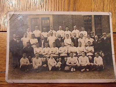 Fulham F.C Picture Postcard of Players and Staff- 1907-08- RARE.