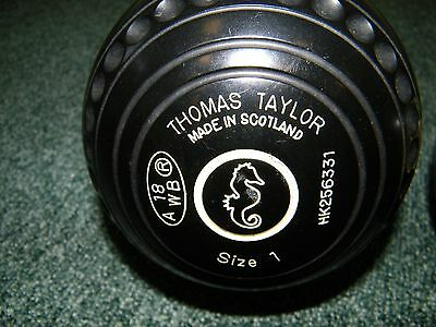 Indoor/Lawn Bowls Taylors Legacy SL size 1 (PAIR)