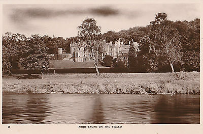 Abbotsford on the Tweed - Melrose, Scotland Old RP Postcard