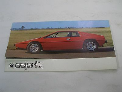 Lotus Esprit Brochure