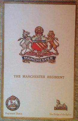 The Manchester Regiment Postcard Crest (Gale And Polden)
