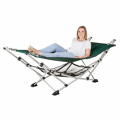 Portable Camping Hammock Outdoor Garden Hanging Sleeping Bed Patio Folding Stand