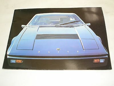 1973 Lotus Elite Brochure