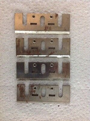 Lot Of 4  Jointer Planer Cutter Shaper Mold Molder Molding Knives Vtg
