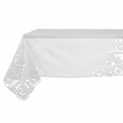 Copritavolo Shabby Chic Easther Collection Blanc Mariclo 120 x 120 Colore Bianco