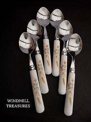 Set Of 6 Vintage Marks And Spencer 'Harvest' Spoons Cutlery- Great Condition
