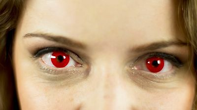 Anime Contact Lenses RED Colorful Contacts Colored Cosmetic ROJO