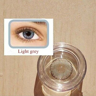 Contact Lenses LIGHT GREY Colorful Contacts Colored Cosmetic GRIS CLARO