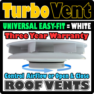 Van Minibus Roof Vent Air Powered Fan Non Electric 12v Not Required WHITE Iveco