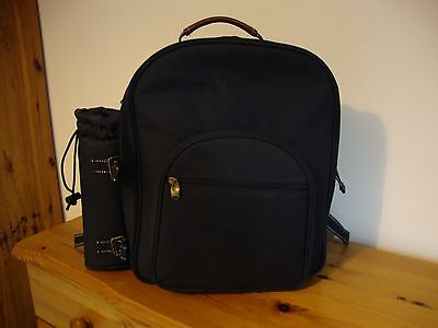 2 person picnic backpack - Navy Blue