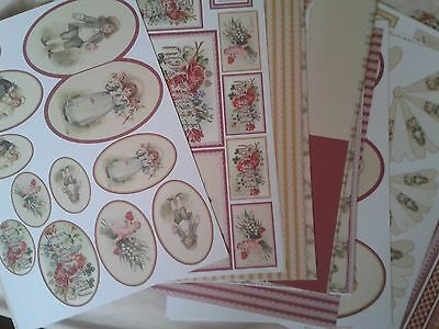 Decoupage / Scrapbooking card - Victoriana designs - Over 30 quality papers
