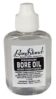 BANDSTAND Bore oil, helps prevent cracking, warping of clarinets 1¼ ounces.