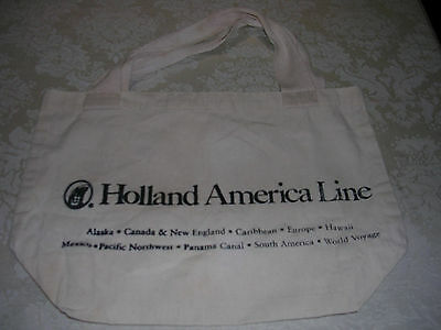 "Never Used, Holland America Cruise Tote Bag, 17"" x 11"""
