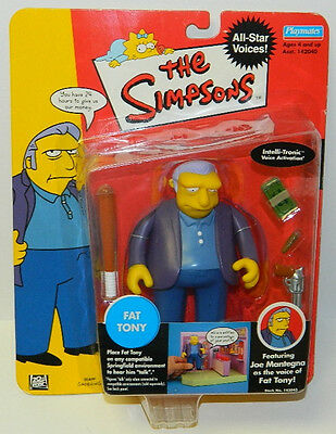 The Simpsons Fat Tony Action Figure with Voice Playmates 2002 NEW  SEALED