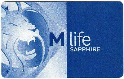 M LIFE hotels/casinos *M LIFE LION blue sapphire#2 *NEW BLANK~ slot/players card