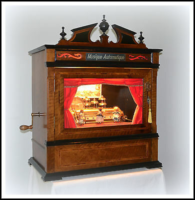 Antique Station Music Box Coin-Op Musical Automaton