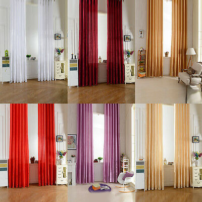 Home Valances Floral Tulle Voile Door Window Curtain Drape Panel Sheer Scarf