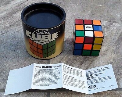Original Vintage Rubik's Cube Ideal Toys 1981 boxed with instructions.