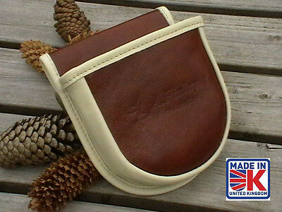 Leather Shooting Bag Pouch Clay Pigeon Skeet Shell Shooting Shotgun Cartridge 2A