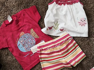 GYMBOREE Girls Baby Shorts Outfit Lot Size 12 m Spring Summer EUC