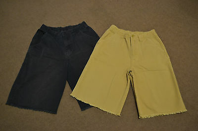 2 Pairs of Boys Navy & Beige Shorts for size 10 years