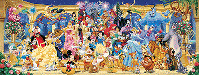 Large Disney Party Character Cross Stitch Kit