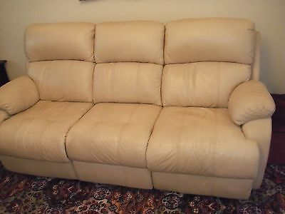 3 Seater Electric Reclining Leather Sofa