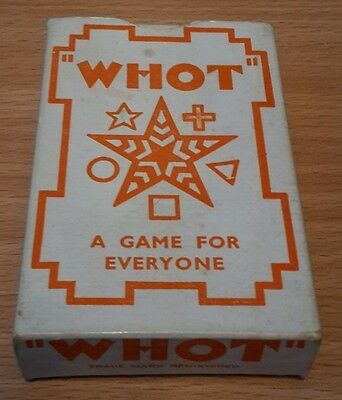 WHOT Card Game Vintage Complete Boxed with Instructions