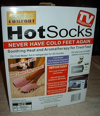 HOT SOCKS MICROWAVEABLE SLIPPERS, Foot Warmers~~Gray~~Size Medium